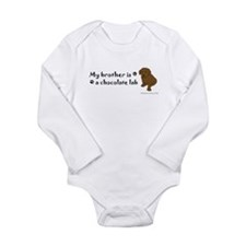 chocolate lab gifts Long Sleeve Infant Bodysuit