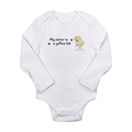 yellow lab gifts Long Sleeve Infant Bodysuit