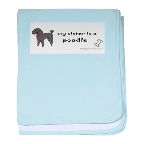poodle gifts baby blanket