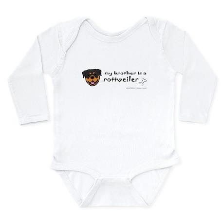 rottweiler gifts Long Sleeve Infant Bodysuit