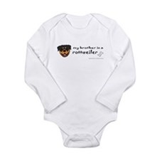 rottweiler gifts Long Sleeve Infant Bodysuit