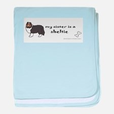 sheltie gifts baby blanket