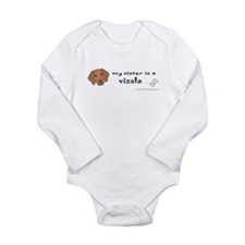 vizsla gifts Long Sleeve Infant Bodysuit