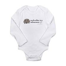 weimaraner gifts Long Sleeve Infant Bodysuit