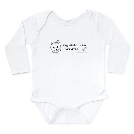 westie gifts Long Sleeve Infant Bodysuit