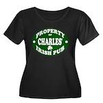 Charles' Irish Pub Women's Plus Size Scoop Neck Da