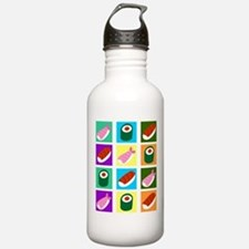 Sushi Pop Art Water Bottle