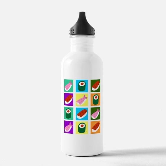 Sushi Pop Art Water Bottle
