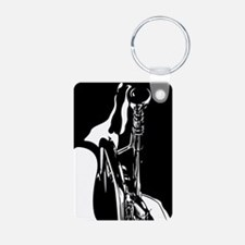 Abstract Jazz Trumpet Keychains
