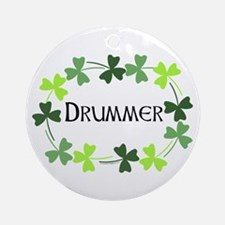 Drummer Shamrock Oval Ornament (Round)