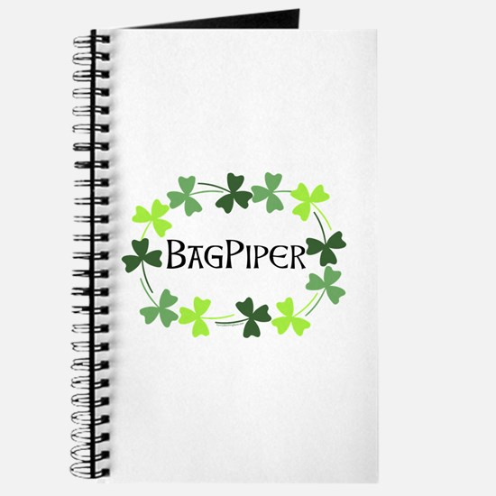 Bagpipe Shamrock Oval Journal