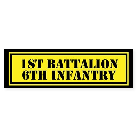 1st Battalion 6th Infantry Sticker (Bumper)