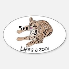 Ocelot Sticker (Oval)
