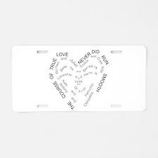 Unique Antony Aluminum License Plate