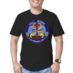 USS COGSWELL Men's Fitted T-Shirt (dark)