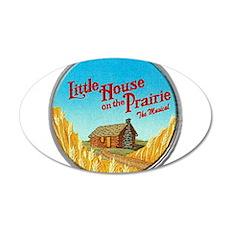 House on Prairie Ingalls 38.5 x 24.5 Oval Wall Pee