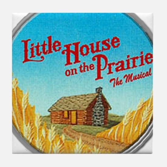 House on Prairie Ingalls Tile Coaster