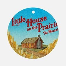 House on Prairie Ingalls Ornament (Round)