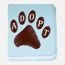 Animal Adoption Paw baby blanket