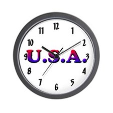U.S.A. plain Wall Clock 10inch