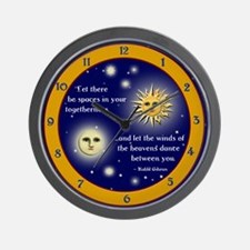 Unique Moon and sun Wall Clock