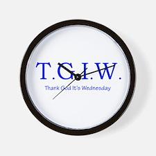 Thank God It's Wednesday! Wall Clock