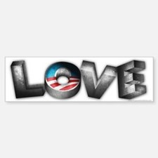 Love for President Obama Bumper Bumper Sticker