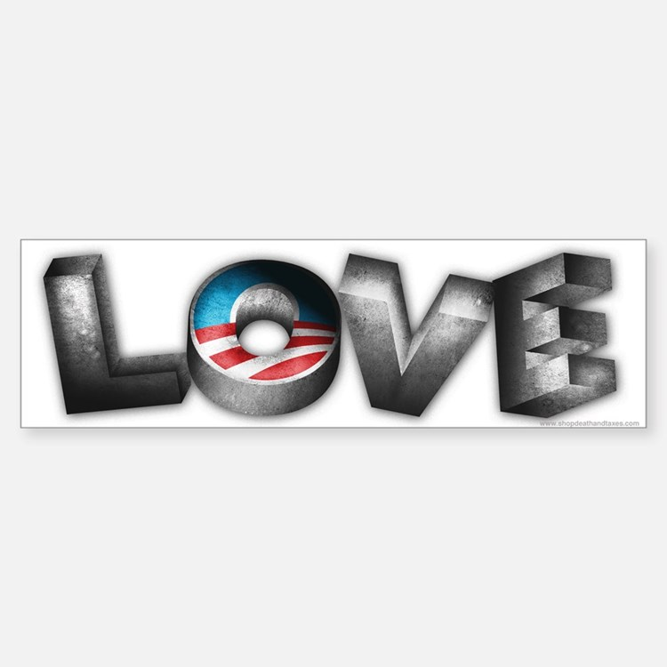 Love for President Obama Car Car Sticker