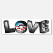 Love for President Obama Sticker (Bumper)