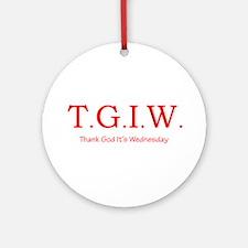 Thank God It's Wednesday! Ornament (Round)