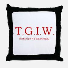 Thank God It's Wednesday! Throw Pillow