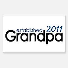 Grandpa Est 2011 Decal