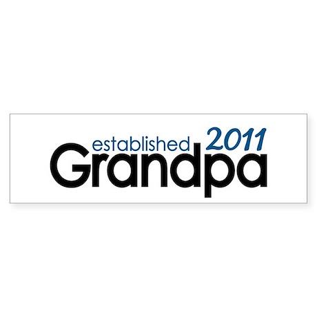 Grandpa Est 2011 Sticker (Bumper)