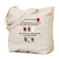 Marriage is like a deck of ca Tote Bag