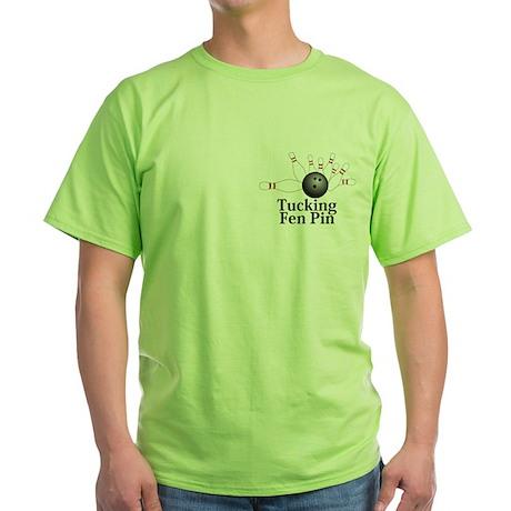 Tucking Fen Pin Logo 2 Green T-Shirt Design Front