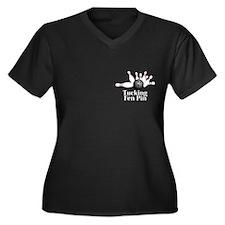 Tucking Fen Pin Logo 2 Women's Plus Size V-Neck Da