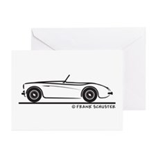 1955 Austin Healey 100 Greeting Cards (Pk of 20)