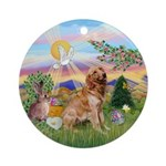 Golden Retriever Easter Ornament (Round)
