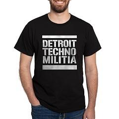 Black Detroit Techno Militia T-Shirt