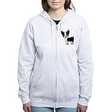 Cute Boston terrier black Zip Hoodie