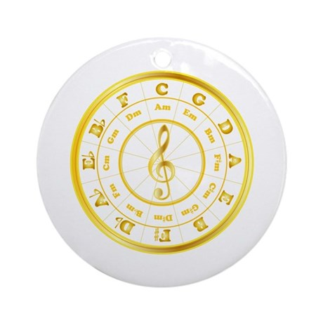"""""""Gold"""" Circle of Fifths Ornament (Round)"""