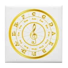 """""""Gold"""" Circle of Fifths Tile Coaster"""
