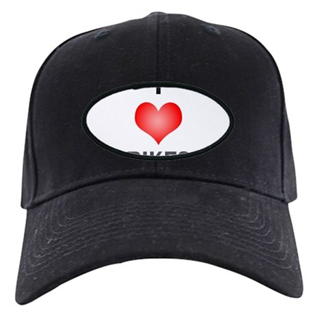 I Love Bikes Black Cap