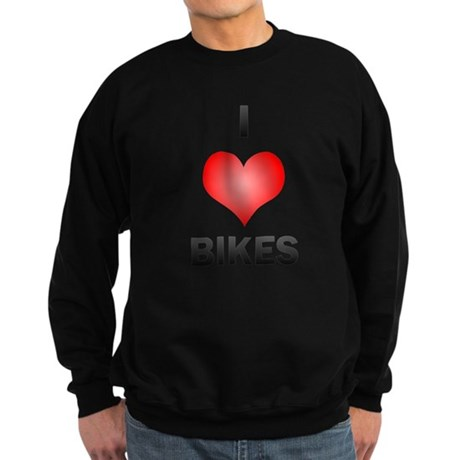 I Love Bikes Sweatshirt (dark)