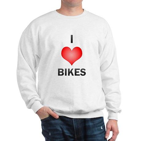 I Love Bikes Sweatshirt