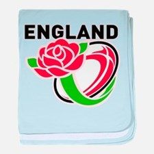 Rugby England baby blanket