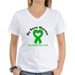BoneMarrowSavedDad Women's V-Neck T-Shirt