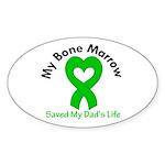 BoneMarrowSavedDad Sticker (Oval 10 pk)