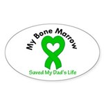 BoneMarrowSavedDad Sticker (Oval 50 pk)