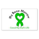 BoneMarrowSavedDad Sticker (Rectangle 50 pk)